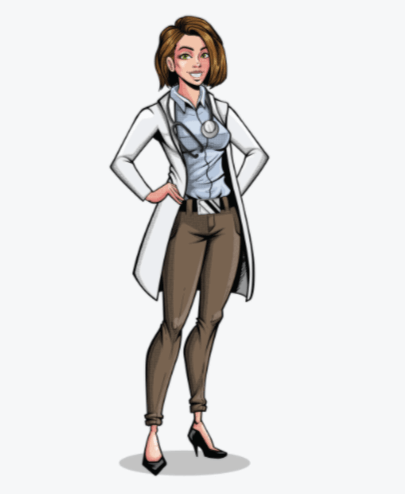 Comicbook Doctor Puppet for Character Animator by GraphicMama