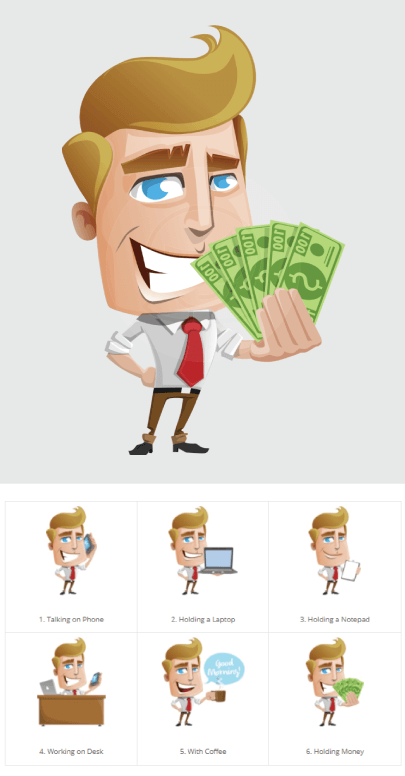 Free Charming Office Manager Illustration Set by GraphicMama