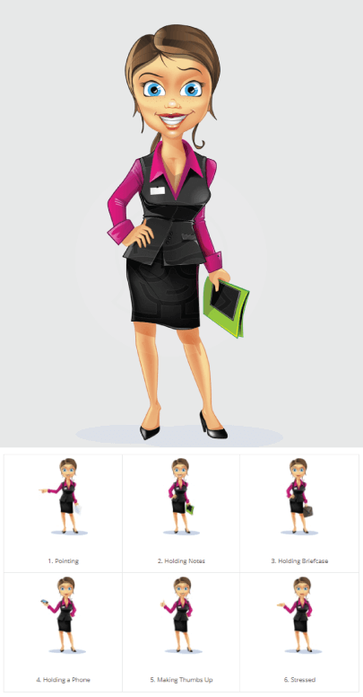 Free Business Woman Illustration Set by GraphicMama
