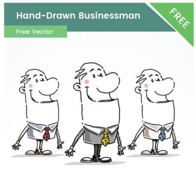 Free Hand-Drawn Businessman Cartoon Illustration