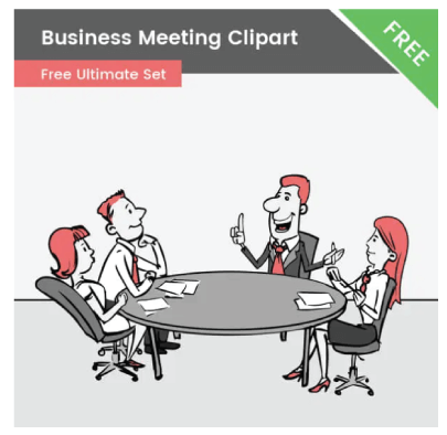 Free Important Business Meeting Illustration
