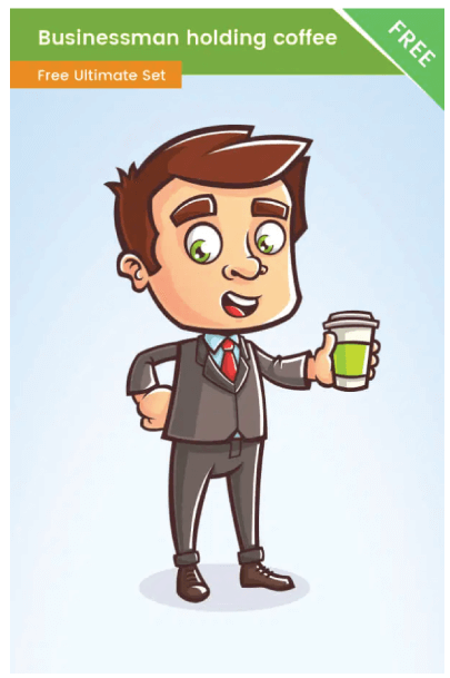 Free Coffee Time Business Illustration Vector Graphic Image