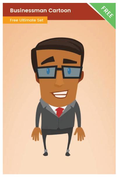Free Businessman Cartoon Illustration