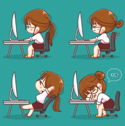 Cute Free Office Illustrations Set