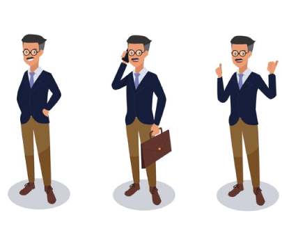 Free Busy Manager Cartoon Illustration