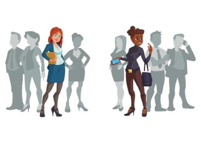 Free Business Teams Cartoon Graphics