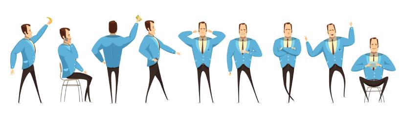 FreeEntrepreneur Cartoon Illustration Vector Graphic Set