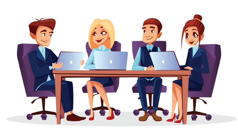 Communication is the Key - Free Office Illustration