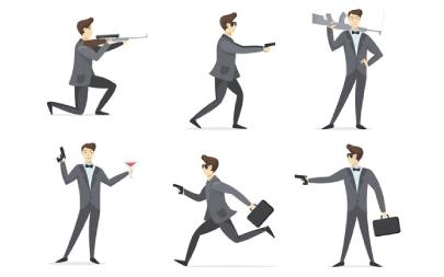 Free Business AgentCartoon Illustration