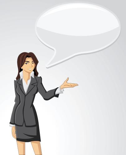 Free Businesswoman with Speech Bubble Illustration