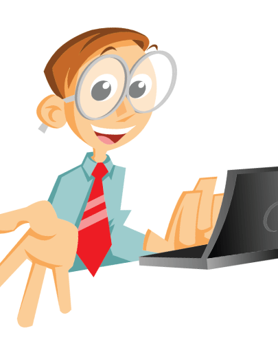 Free Cartoony Businessman Office Illustration
