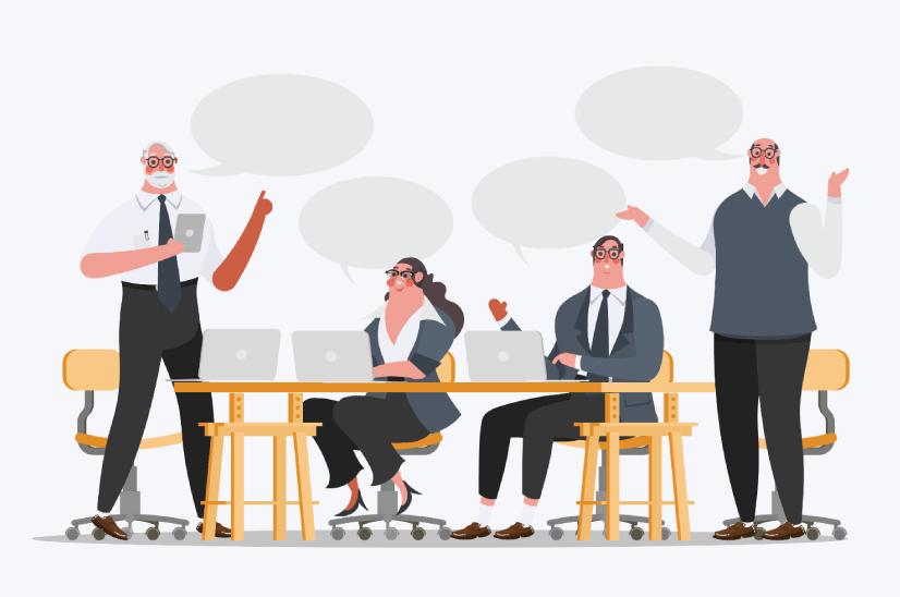 Free Meet The Team Modern Flat Illustration