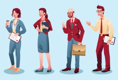 FreeOffice Team Modern Illustrations