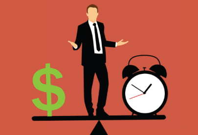 FreeTime and Money Business Illustration