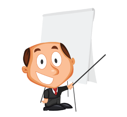 FreeCartoon Businessman Training Cartoon Illustration