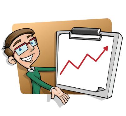FreeRevenue Growth Strategy Business Cartoon