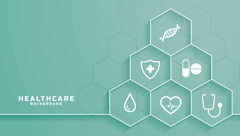 free ,medical background with hexagon icons