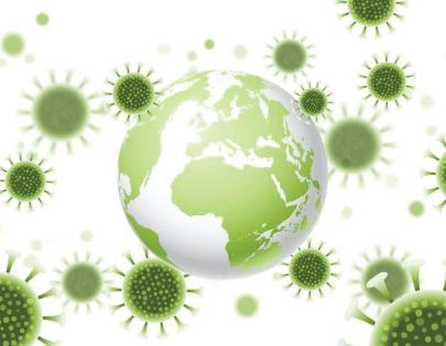 free abstract background with virus cells