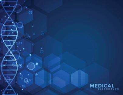 free medical background dna pattern dark blue