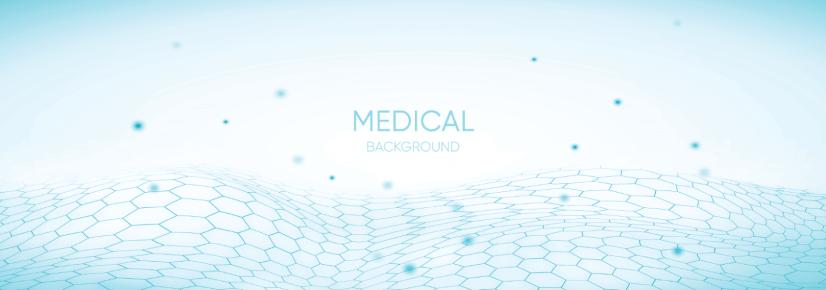 free medical background white blue gradient hexagon net