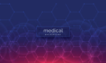 free medical background hexagon patterned