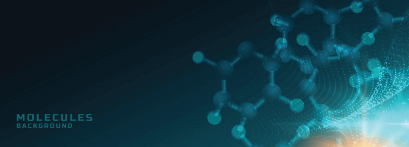 free background with molecules design
