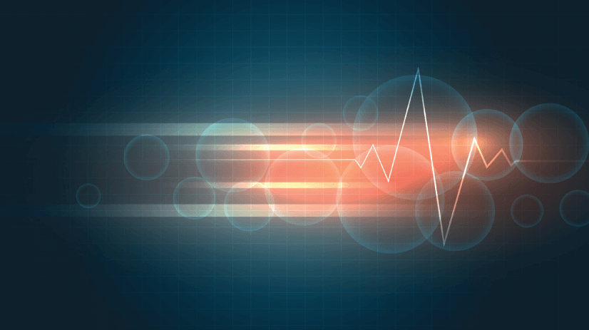 free dark background with cardiogram and lined texture