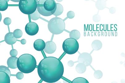 Free Molecules Illustration Background