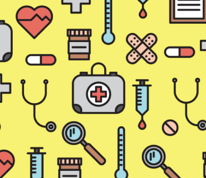 Free Med Icons Pattern Vector