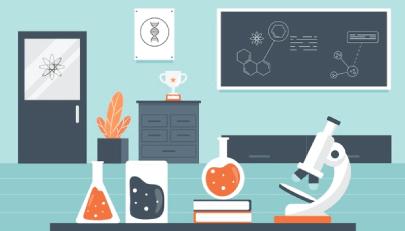 Free Laboratory Illustration Background
