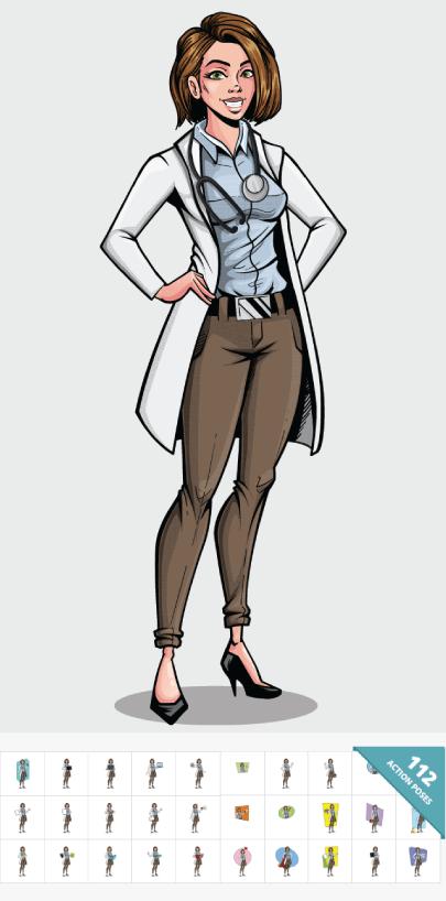 Comics Style Female Doctor