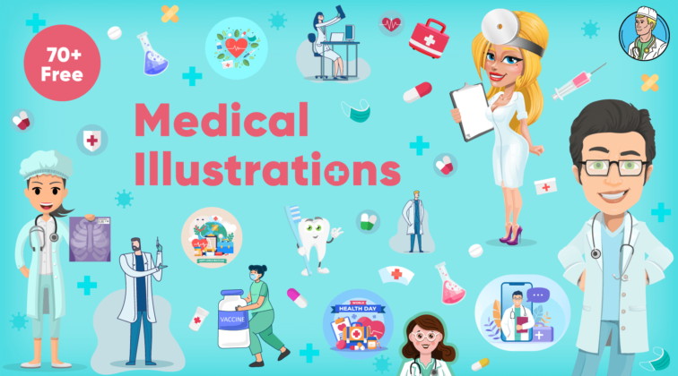 70+ Free Medical Illustrations For Your Design Projects and Presentations