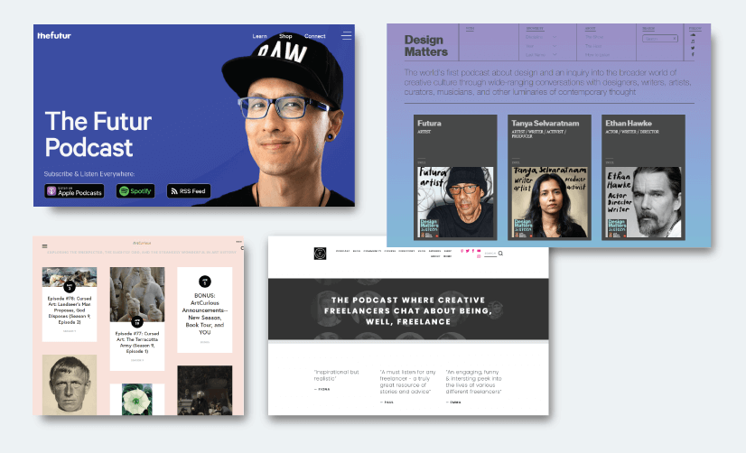 graphic design assets: awesome podcasts for graphic designers