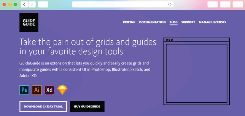 graphic design tools: GuideGuide