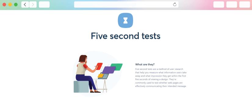 graphic design tools: Five Seconds tests
