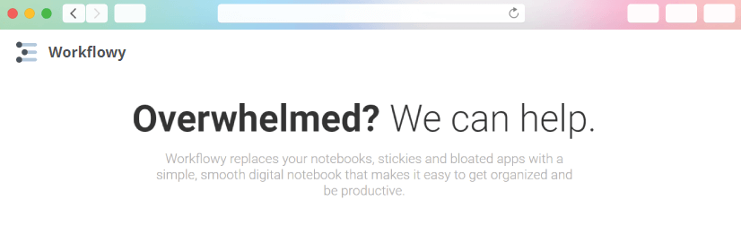 graphic design tools: WorkFlowy