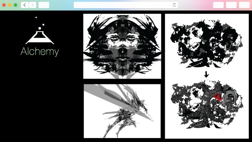 graphic design tools: Alchemy