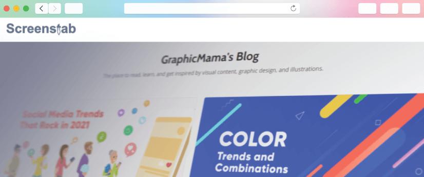 graphic design tool: Screenstab