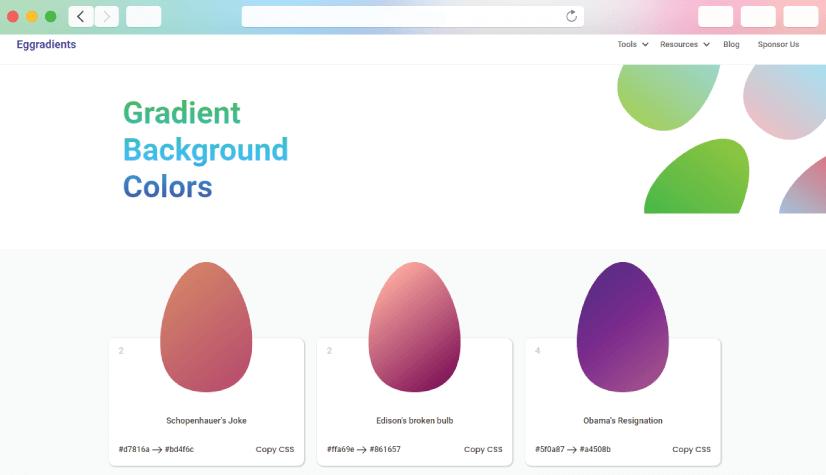 graphic design tools: eggradient