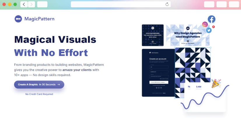 graphic design tools: magic pattern