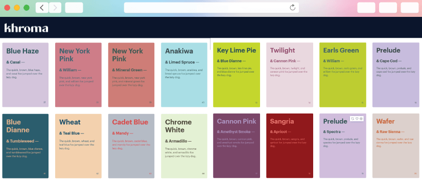 graphic design tools: khroma