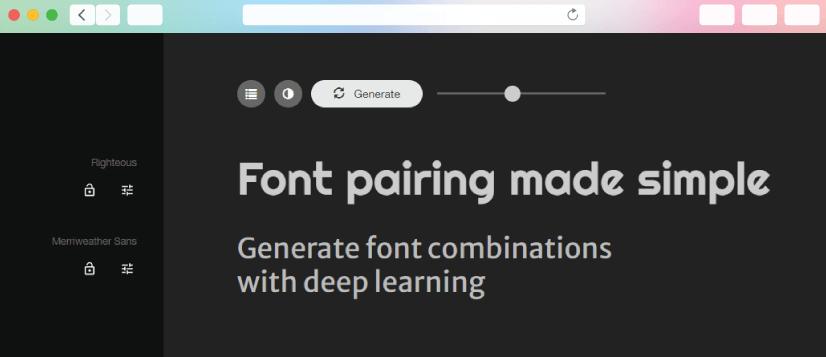 graphic design tools: fontjoy