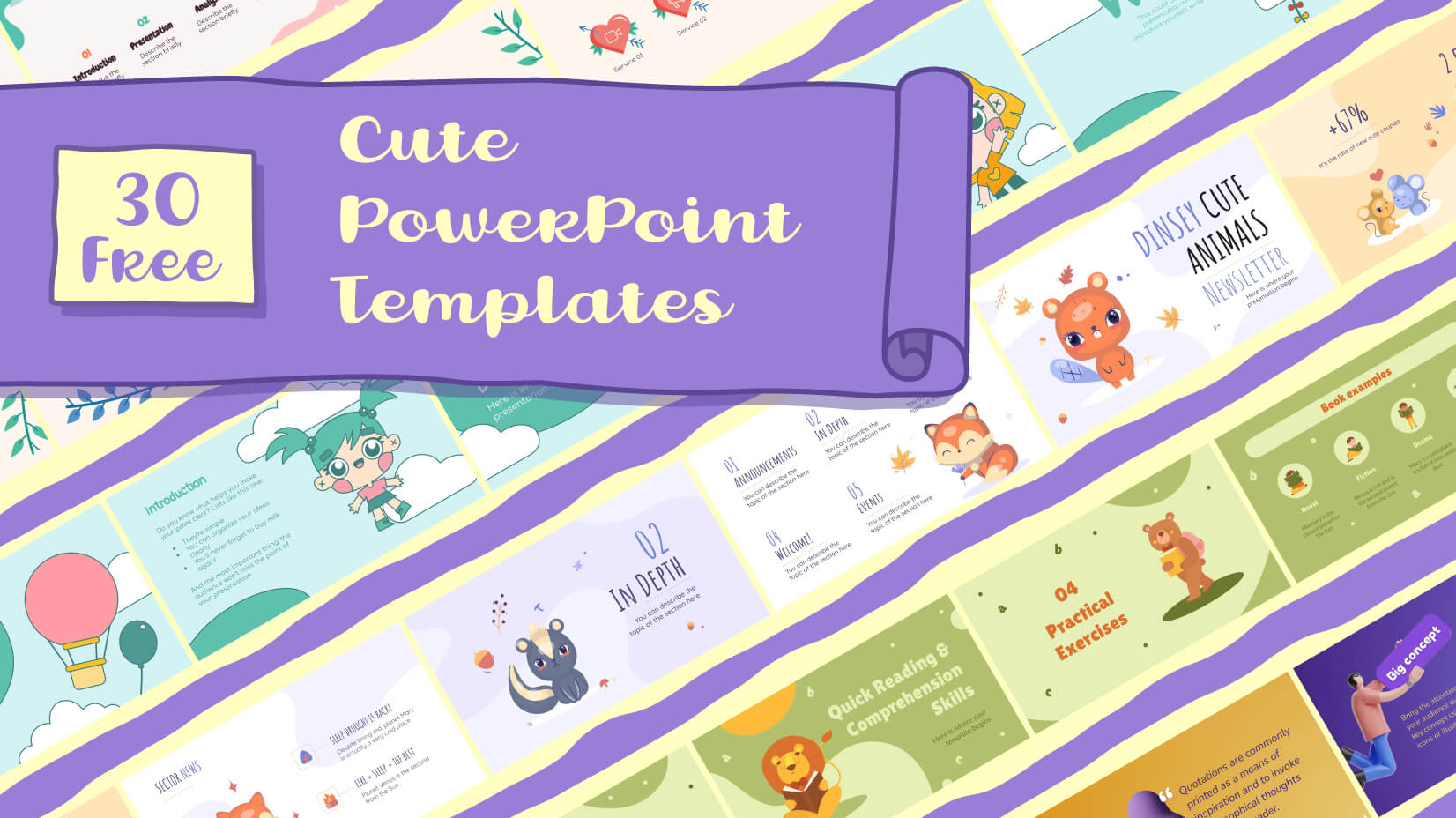 30 Free Cute PowerPoint Templates: Collection For A Sweet Presentation