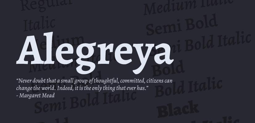 Free Commercial Fonts in 2021: Alegreya