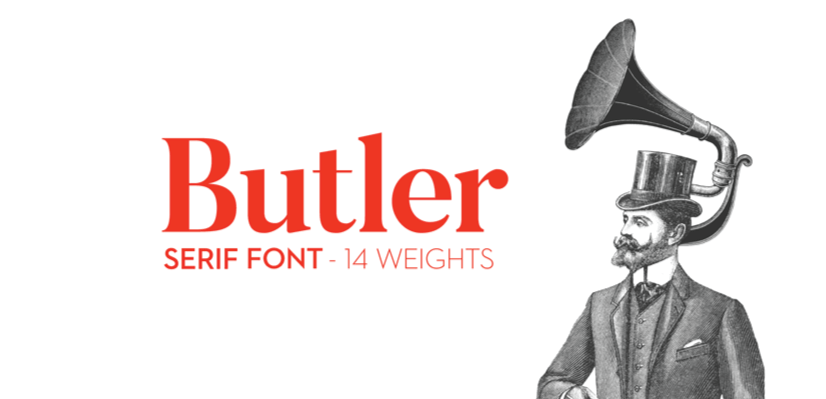 Free Commercial Fonts in 2021: Butler