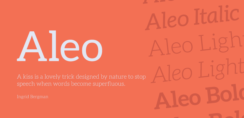 Free Commercial Fonts in 2021: Aleo