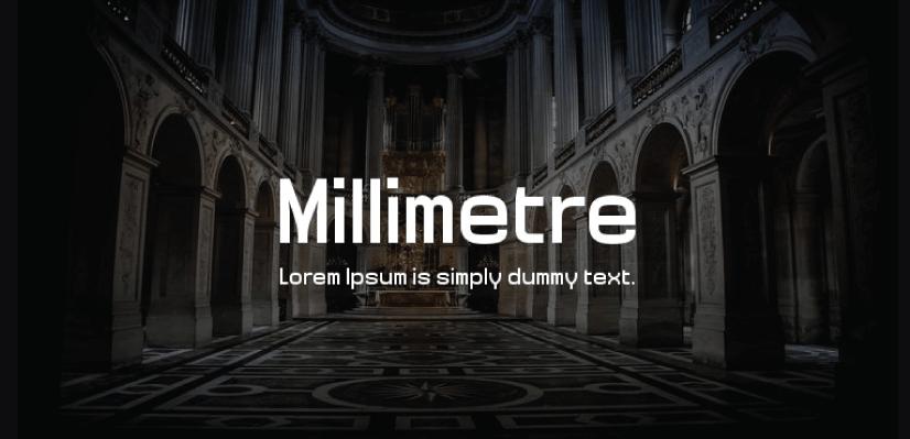 Royalty Free Sans Serif: Millimetre