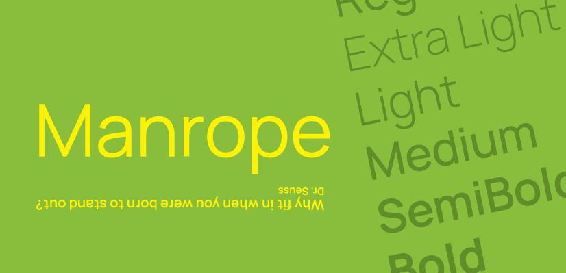 Royalty Free Sans Serif: Manrope