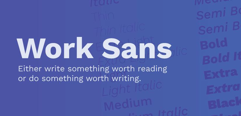 Royalty Free Sans Serif: Work Sans