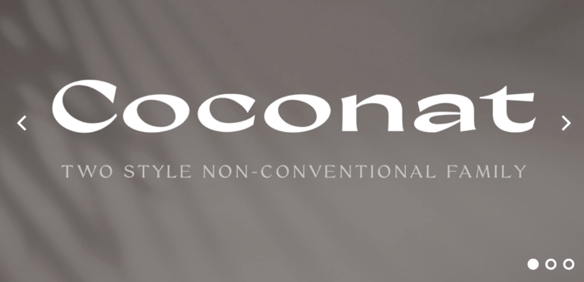 Royalty Free Sans Serif: Coconat